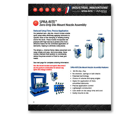 Download Industrial Innovations Die Mount Nozzle Catalog. For more information, please call us at 616-249-1525.