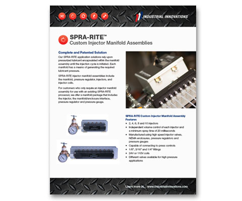 Download Industrial Innovations SPRA-RITE Manifolds Catalog. For more information, please call us at 616-249-1525.