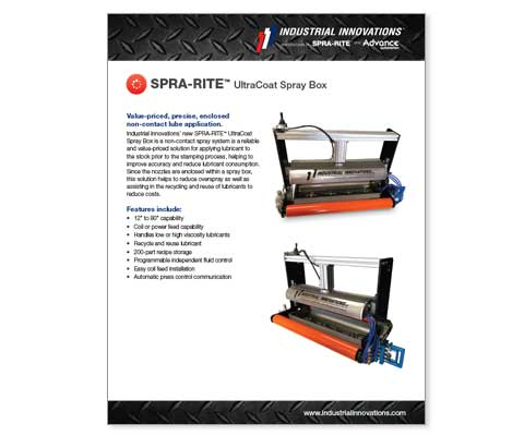 Download Industrial Innovations SPRA-RITE UltraCoat Spray Box Catalog. For more information, please call us at 616-249-1525.